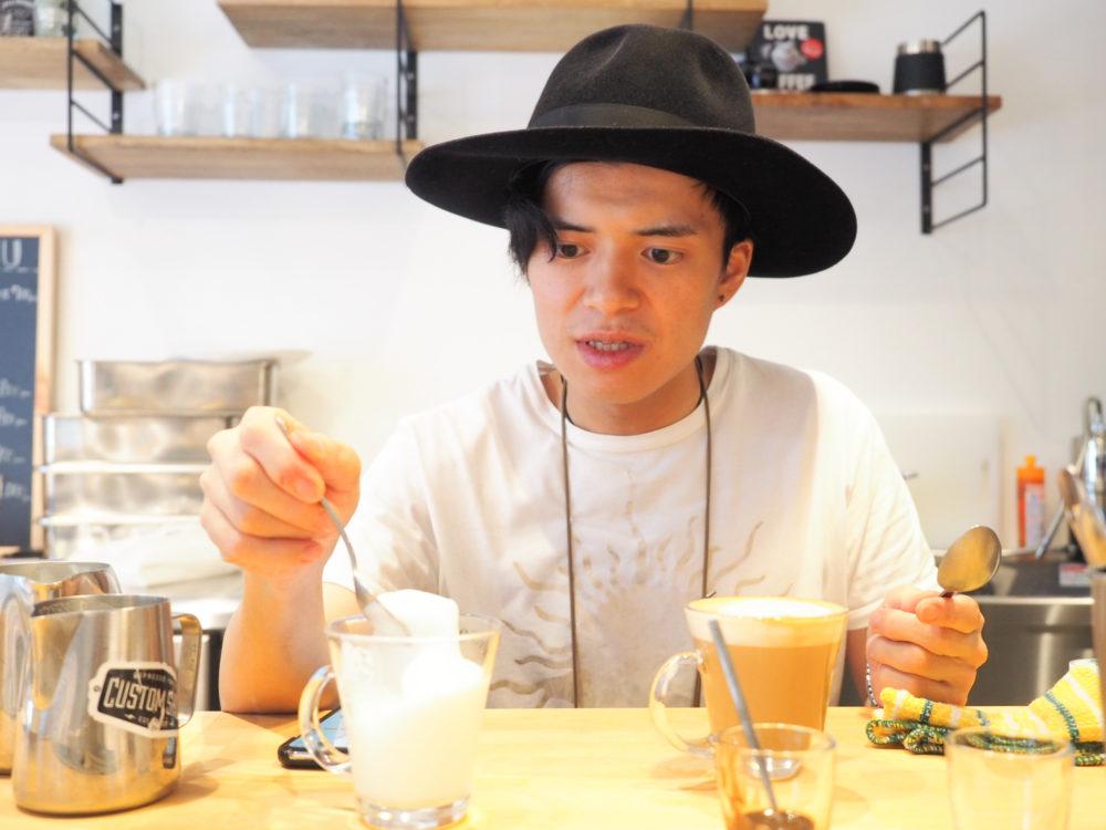 蔵前 hatcoffee ハットコーヒー ラテアート