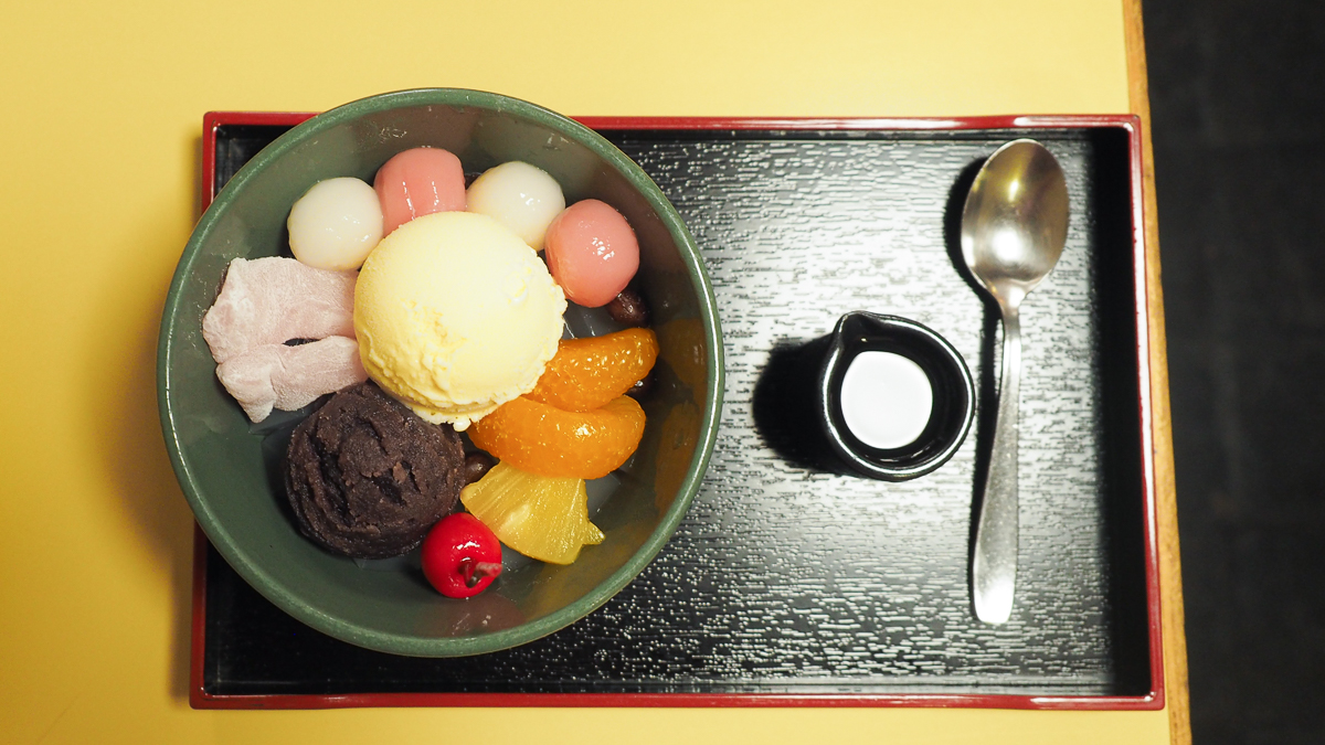浅草 甘味処 おすすめ 梅園 白玉クリームあんみつ 和菓子